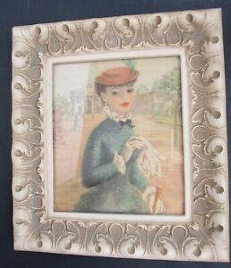 VTG TURNER Victorian Lady Print 6 in x 7 in Ornate Plastic Wall Hanging Frame $25.00