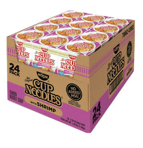 24 Nissin Cup Ramen Noodle Soup SHRIMP Flavor 2.5 OZ Pack Of 24 $16.99