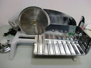 Vtg Metal Electric Meat Slicer Food amp; Cheese Chrome Rival 1030 7 STURDY STRONG