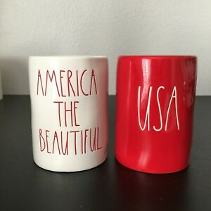 Rae Dunn America the Beautiful amp; USA Candle Summer Sun amp; Citrus Peel 11.4 oz