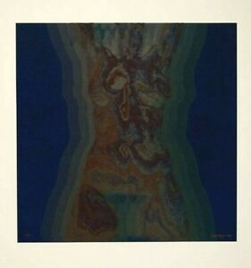 Greenberg 1973 Lithograph Abstract Psychedelic Thermal Heat Nude Signed $150.00