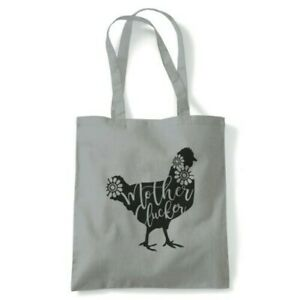 Mother Clucker Funny Mum Tote Reusable Shopping Canvas Bag Gift Her