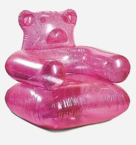 New Kids Justice Pink Inflatable Gummy Bear Chair NIB