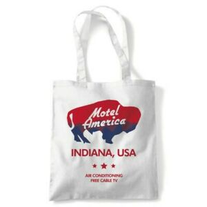 Motel America Tote Reusable Shopping Canvas Bag Gift