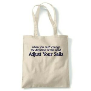 Adjust Your Sails Tote Reusable Shopping Canvas Bag Gift