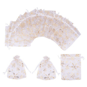 100pcs Gift Bags 4.7 x 3.9 inch Candy Mesh Drawstring Bags Jewelry Toy Pouches