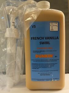 Dunkin Donuts French Vanilla Swirl With Pump 64oz Jug $59.99