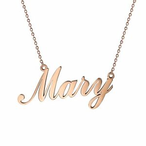 Womens Stainless Steel Charm Unique Name Custom Pendant Necklace Chain For Gift $10.99