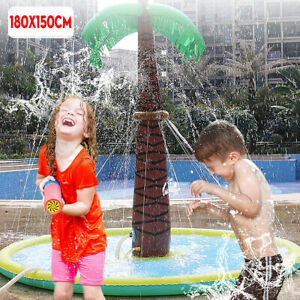 Kids Splash Play Mat Children Inflatable Outside Water Spray Toy Sprinkler Pad