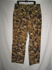 Old School Camo Pheasant Hunting Brush Pants 38 x 30 Upland Grouse Duck Goose