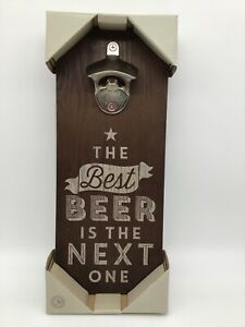 The Best Beer Beer Opener Plaque Beer Sign with Metal Bottle Opener Attached