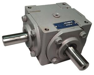 40 HP Right Angle Bevel Gearbox with 2 Keyed Shafts CW CW 1:1 $134.99