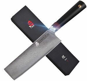 NEW TUO Ring R Series Cutlery Nakiri Knife 6.5quot; Damascus Vegetable Cleaver