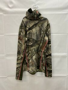 Women's Under Armor Cold Gear Scent Control Camouflage Turtleneck Shirt Small $39.00