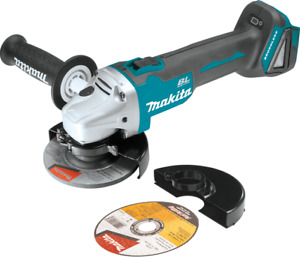 """Makita XAG04Z 18V LXT® Brushless Cordless 4‑1 2"""" 5quot; Cut‑Off Angle Grinder Too"""