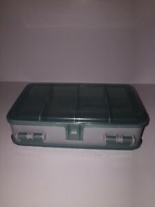 """Woodstream Double Sided Storage 10 Compartments Small Fishing Box 5 1 2"""" X 3"""""""
