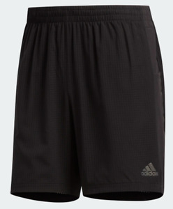 Adidas Running Shorts Mens Black Small Authentic 7 Inch Climalite Stay Dry Run $26.99