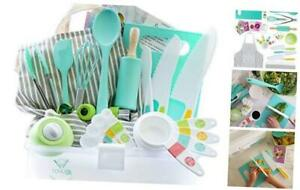 Tovla Jr. Kids Cooking and Baking Gift Set with Storage Case Complete Cooking
