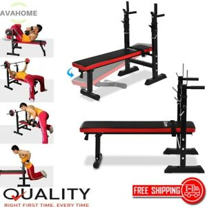 Weight Bench Folding Lifting Flat Incline Adjustable Ab Abdominal Home Gym $265.99