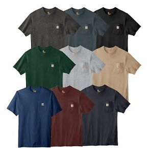 Carhartt Mens T shirt WorkWear K87 Pocket Basic Heavyweight Jersey Knit Top Tee $18.99