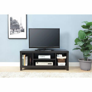 Flat Screen Tv Stand Storage Furniture Shelf 4 Cube Modern Wood TVs up to 42quot;