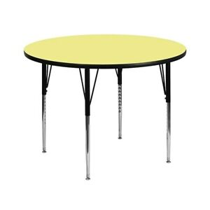 Flash Furniture Round Activity Table Yellow XUA42RNDYELTA