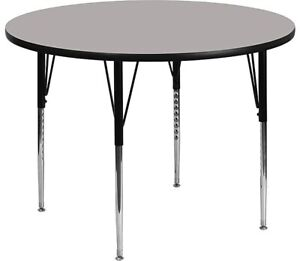 Flash Furniture Round Activity Table Gray XUA48RNDGYHA