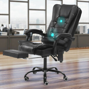 Office Chair Executive Swivel Gaming Chairs Leather Computer Desk Chair Footrest