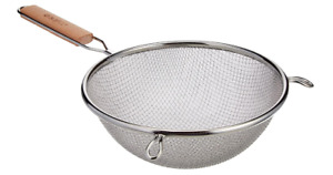Double Mesh Fine Strainer Colander Sieve Sifter Stainless Steel Kitchen Food 8quot;