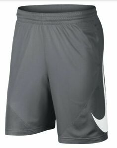 Nike Shorts Mens XL New Gray Dri Fit Quick Dry HBR 9 Inch Basketball Training $27.99