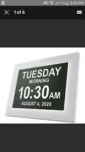American Lifetime Newest Version Day Clock Extra Large Impaired Vision Digital