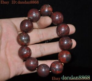 Old Chinese China Hongshan Culture Meteorite iron bracelet hand ring statue