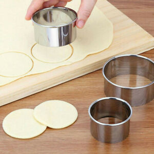 5 Set Round Circle Stainless Steel Cookie Cutter Biscuit DIY Baking Pastry Mo ^P $7.64