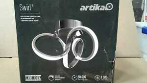 Swirl 13 in. Chrome LED Flush Mount by Artika