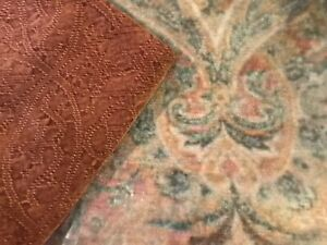 """New Pottery Barn Chenille Textured Jacquard Pillow Cover Ember Orange 20"""" Fall"""
