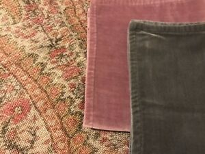 """New Pottery Barn Washed Velvet Pillow Cover 20"""" Heather Rare Color"""