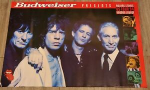 Vintage Rolling Stones Budweiser Presents US Voodoo Lounge Tour 94 Promo Poster $12.55
