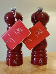 Peugeot Paris U Select Salt amp; Pepper Mill 7quot; Red Lacquer Sold Individually NWT
