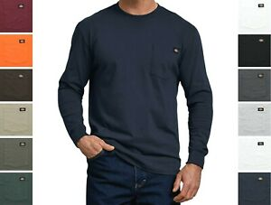 Dickies#x27; Men#x27;s Long Sleeve T Shirt Crew Neck Heavyweight Big amp; Tall with Pocket