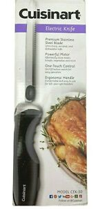 Cuisinart CEK 30 Electric Knife Black Brand New In Box Stainless Steel Blade F S
