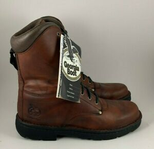 Men#x27;s Georgia Work Boots 8quot; Eagle Lite Rust Comfort Core Size 11 M New In Box