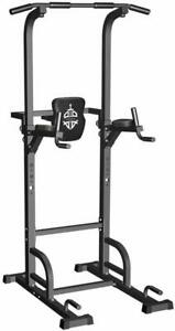 Sportsroyal Pull Up Bar Power Tower Adjustable Height f Indoor Home Gym Fitness $126.88