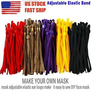DIY Mask Sewing Elastic Band with Adjustable Buckle For Face Mask 12 COLORS USA $6.89