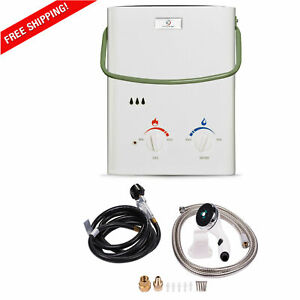 Tankless Water Heater Propane Outdoor Gas Portable Shower Head Battery Camping
