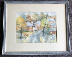ORIGINAL WATERCOLOR PAINTING FRAMED amp; MATTED amp; SIGNED SEE PICS FOR ARTIST $30.00
