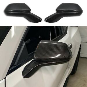 Real Carbon Fiber Mirror Cover Caps Overlay for 2016 2020 Chevy Camaro SS RS ZL1 $129.99