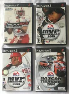 Lot Of 4 Playstation 2 PS2 Games. Used. MVP 04amp;05 NCAA Football NASCAR 2004