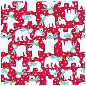 The Gift Wrap Company 9#x27; Gift Wrap Roll Beary Merry 96 3837 $19.00