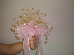 Quinceanera Bouquets 2 Pink with crystal stones