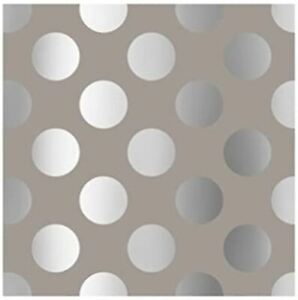 The Gift Wrap Company 8#x27; Gift Wrap Roll Chrome Dots 76 3666 $19.00